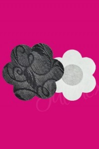 nipple cover black flower