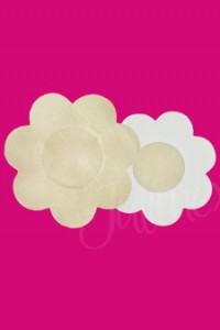 Nipple covers in beige flower shape