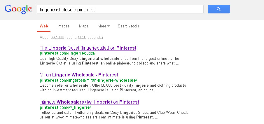 10. lingerie wholesale Pinterest in Google 27.03.2013