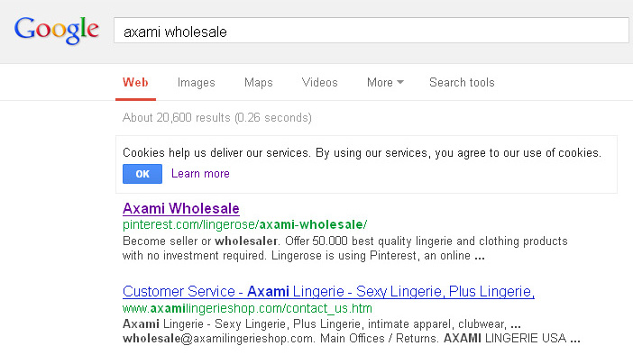 21. Axami wholesale in Google