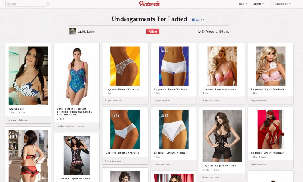 40. Undergarments for ladied